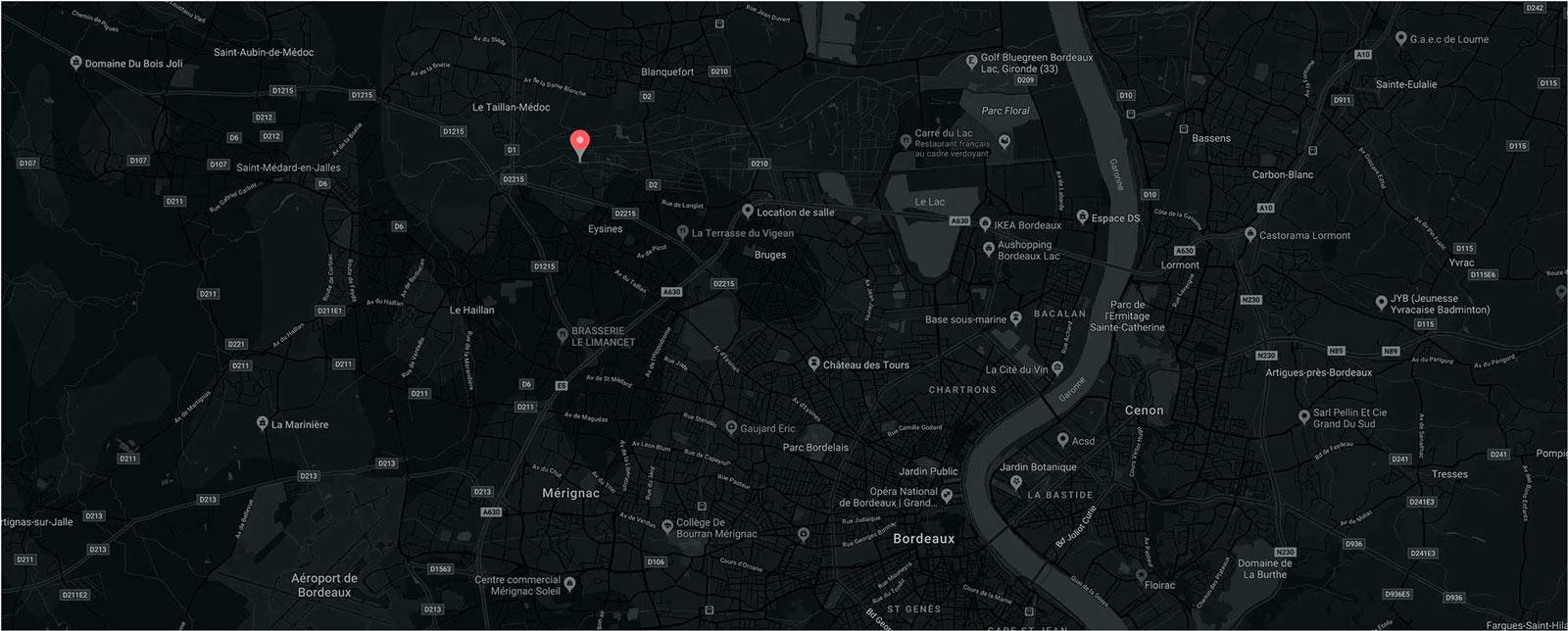 carte google restaurant bordeaux